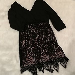 Maurice's black and lace dress size large